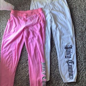 Two juicy couture tracksuit pants